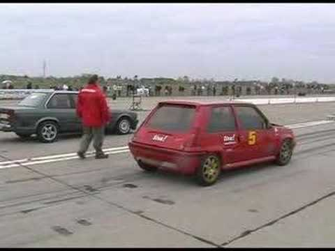 renault 5 gt turbo vs bmw e30 dragrace
