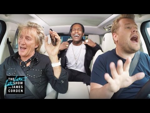 Rod Stewart and A$AP Rocky Carpool Karaoke
