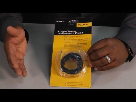 Fluke K Type Velcro Temperature Probe Unboxing