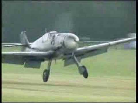 Breve vuelo de un Bf109 G