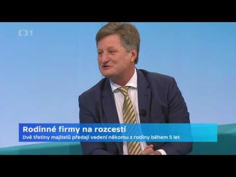Rozhovor s Liborem Musilem na téma Rodinné firmy na rozcestí, ČT 24, 12. 12. 2016