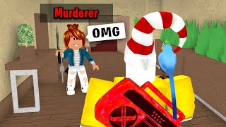 GIVING NOOB MURDERER EVERY ROUND IN ROBLOX MURDER MYSTERY 2