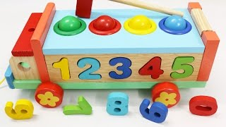 Video Learn Colors Numbers with Wooden Truck Hammer Balls Toys for Children Toddlers MP3, 3GP, MP4, WEBM, AVI, FLV Oktober 2017