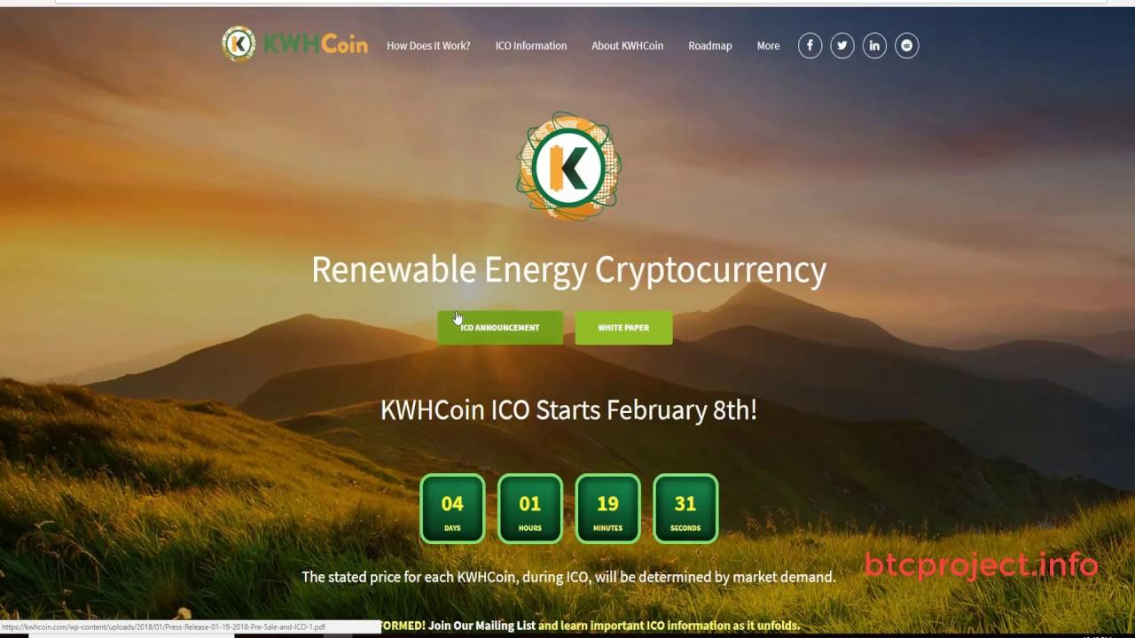 KWHCOIN Renewable Energy Cryptocurrency