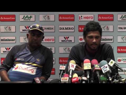 1st ODI Post Match Press Conference - Dinesh Chandimal & Tamim Iqbal