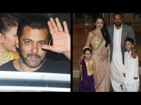 Salman Khan Attends Brother Sanjay Dutt's Diwali P