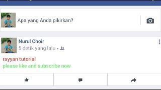 Cara buat tulisan berwarna pada status facebook