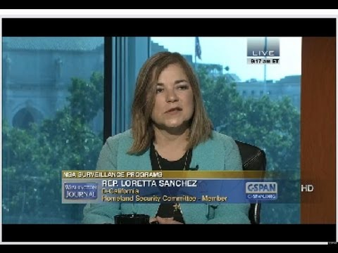 tip - Homeland Security Committee member Congresswoman Loretta Sanchez (D - California) on C-Span today stated the information leaked by Edward Snowden is the