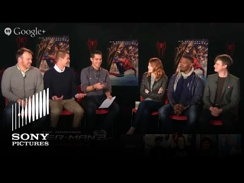 live - Join the first-ever movie-themed Google+ Shoppable Hangout for a LIVE Q&A Andrew Garfield, Emma Stone, Jamie Foxx, Dane DeHaan, and Director Marc Webb Watch...