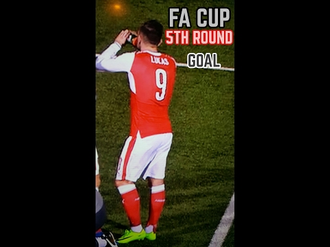 Arsenal goal vs Sutton United. Lucas perez.