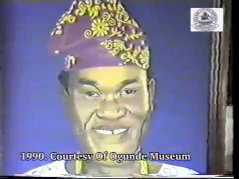 Lying In State Of Chief Hubert Ogunde At His Residence In Ososa On The 4TH Of May 1990