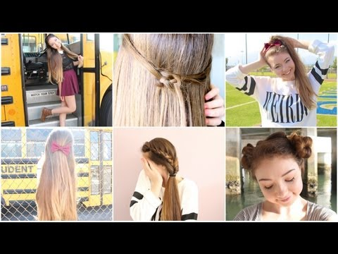 5 Quick n' Easy Back to School Heatless Hairstyles!
