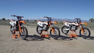 10. 2017 Three KTM SX-F Comparison Overview | feat. Steve Caballero