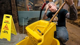 300 GALLON ALLIGATOR TANK IS LEAKING!! NOW WHAT? Reptile Zoo Build day #5 | BRIAN BARCZYK by Brian Barczyk