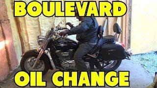 7. Change of engine oil on Suzuki Boulevard C50T