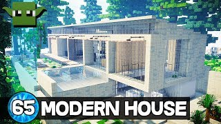 Minecraft 10 Minute Tour - Modern House 65