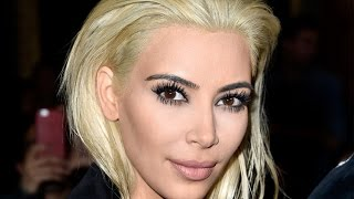 Kim Kardashian Debuts Platinum Blonde Hair