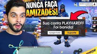 FUI BANIDO POR ISSO?!? FIZ AMIZADE NO MODO SOLO DO FREE FIRE!!!