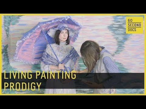 11-Year-Old Creates Life-Size Paintings In Her Garage // 60 Second Docs