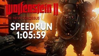 Wolfenstein 2: The New Colossus Speedrun in 1:05:59 [World Record]