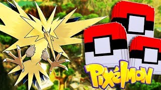 *Mega Shiny Zapdos* Minecraft Pixelmon Lucky Blocks - Minecraft Pixelmon Minigames