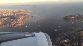 Video The Most Beautiful City: Istanbul 2015 - Turkish Airlines landing at Istanbul Atatürk Airport (HD) MP3, 3GP, MP4, WEBM, AVI, FLV September 2018