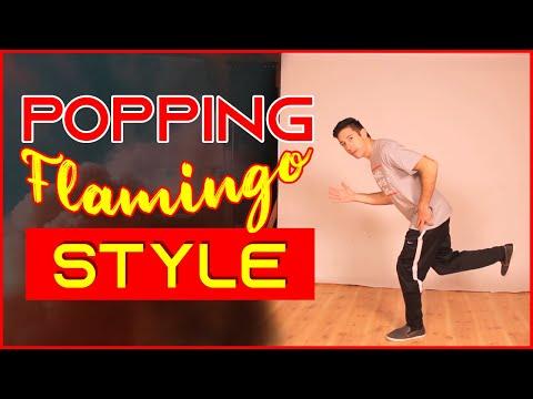Поппинг: flamingo style. Урок видео обучения.