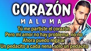 Video Maluma - Corazón (Letra) MP3, 3GP, MP4, WEBM, AVI, FLV Februari 2018