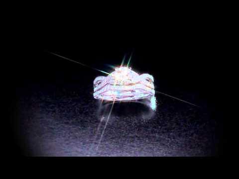 Round Brilliant 1.20 ctw VS2 Clarity I Color Diamond Platinum Wedding Set