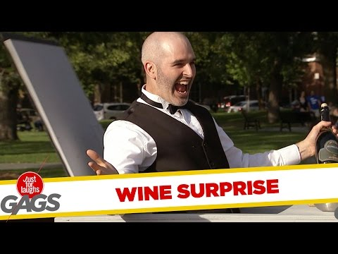 Funny Video – Scary Wine Pop Up Counter Prank