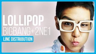 Download Lagu BIGBANG & 2NE1 - Lollipop Line Distribution (Color Coded) Mp3
