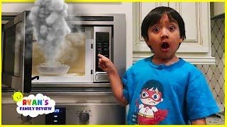 Ryan's Daddy burnt the popcorn while mommy was away!!!