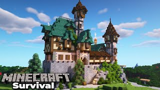 How to build an Awesome Manor House in Minecraft 1.15 Survival : Building with fWhip