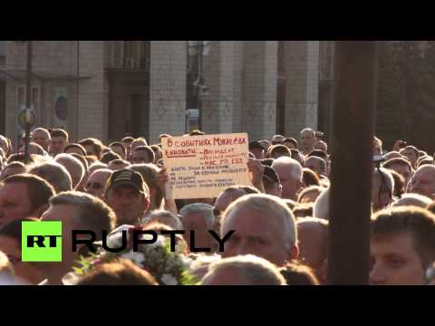 «Правый сектор» провел на Майдане народное вече «Долой власть предателей!»