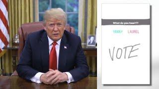 Video President Trump Hears 'Covfefe' in Yanny/Laurel Debate MP3, 3GP, MP4, WEBM, AVI, FLV Mei 2018