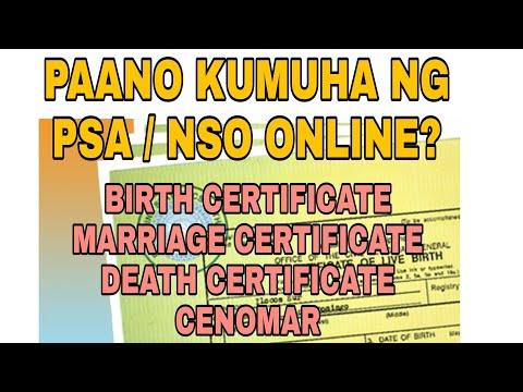 PAANO KUMUHA NG BIRTH CERTIFICATE ONLINE | NSO / PSA