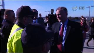 Virginia Senator Keane Visits Wallops Flight Facility, Tours Damaged Antares Pad
