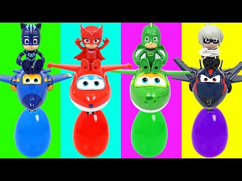 The villains broke the Vehicles of PJ Masks! Help Super Wings! - DuDuPopTOY