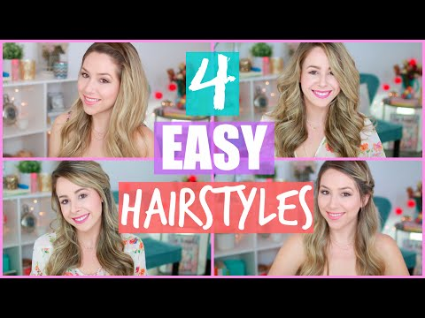 4 Easy Hairstyles for Spring + Flat Iron Curls