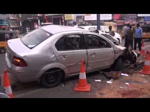 Car accident at Narayanguda