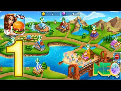 Cooking Fest: Gameplay Walkthrough Part 1 - Level 1 - 5 Completed (iOS, Android)