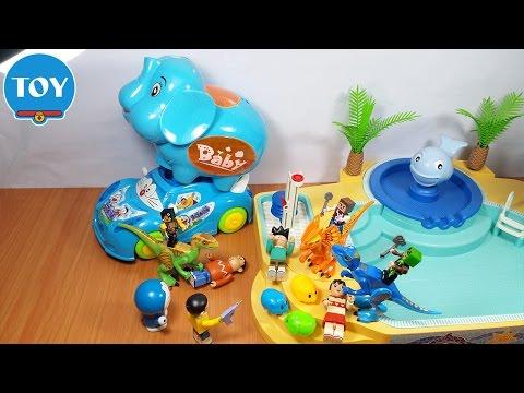 đồ chơi Doremon chế hài - Hiệp sĩ Nobita đi bơi bắn súng khủng long bảo vệ Chú Voi biết đẻ con - Thời lượng: 11:39.