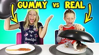 GUMMY vs REAL FOOD 4!!!