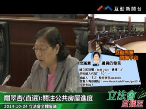 關翠杏20141024立法會全體會議