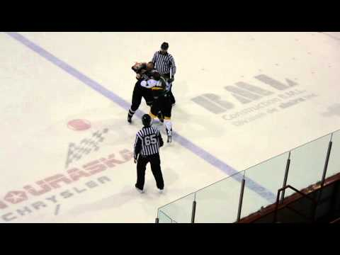 Combat / Fight D. Chicoine vs L. Tremblay, LNAH, 16-11-13