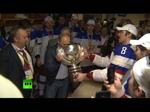 Путин поздравил российских хоккеистов