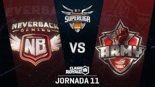 SUPERLIGA ORANGE - NEVERBACK VS ASUS ROG ARMY- Jornada 11 - #SuperligaOrangeCR11