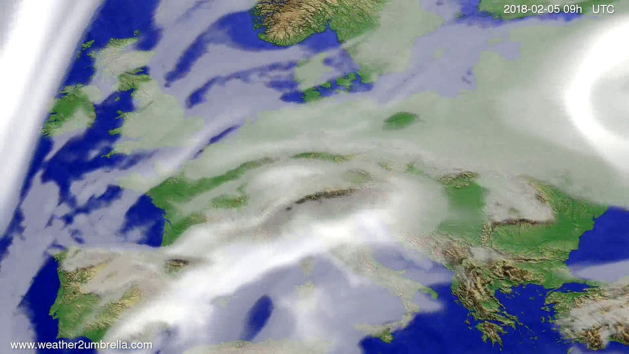 Cloud forecast Europe 2018-02-01