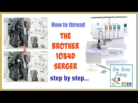 How to thread the Brother 1034D serger step by step