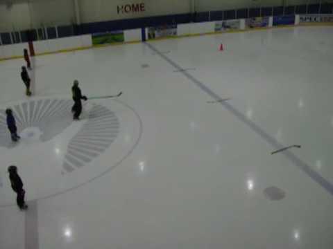 Basic Power Skating Ice Hockey:  Forward to Backwards Cross Over Transition
